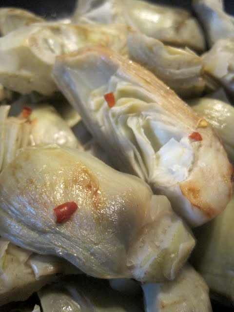 Artichokes and Red Pepper Flakes - Photo Courtesy of Full Belly Sisters