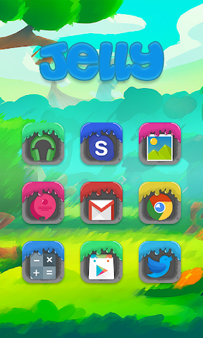 android Jelly - Solo Theme Screenshot 2