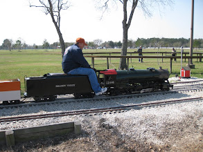 Photo: Rick Pike with his 2-8-2.   HALS 2009-0228