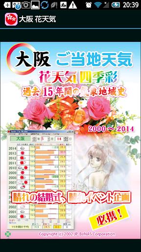 大阪 花天気 広告付き