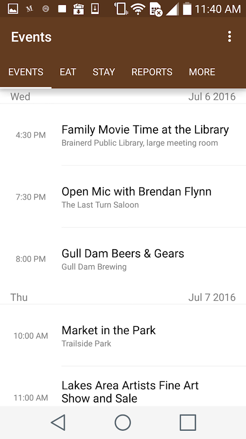 Brainerd Lakes Area Updates- screenshot