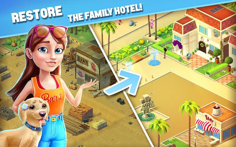 Resort Hotel: Bay Story Screenshot 10