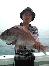 Photo: やったー! 真鯛とったどー! スレで重たかったけど・・・。
