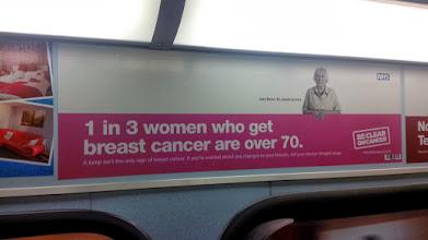 Photo: 1 из 3 женщин с раком груди - старше 70 лет. Социальная реклама. В России о женщинах уже старше 60 лет не думают...