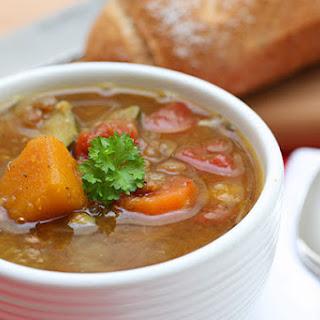 Vegetable & Lentil Soup.