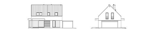 Przytulny 3 - Elewacja tylna i lewa