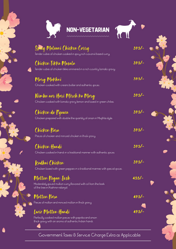 The Mellow Garden menu 11