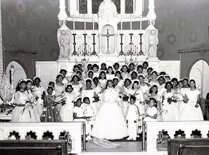 Photo: 1960 May Procession Court_Carol Savoy-May Queen_St Cyprian Parish