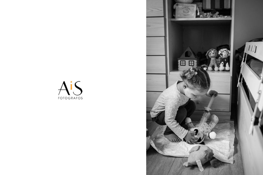 Fotografía infantil - una mañana en familia