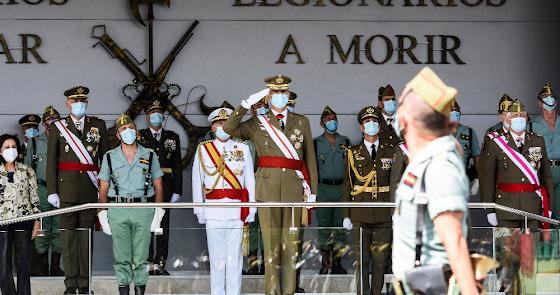 Felipe VI honra a la Legión en su Centenario fundacional