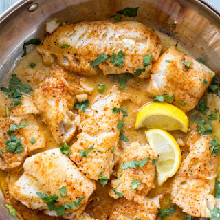 Buttered Cod in Skillet Recipe