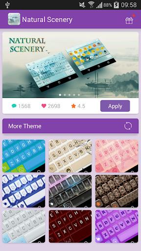 Emoji Keyboard-Natural Scenery