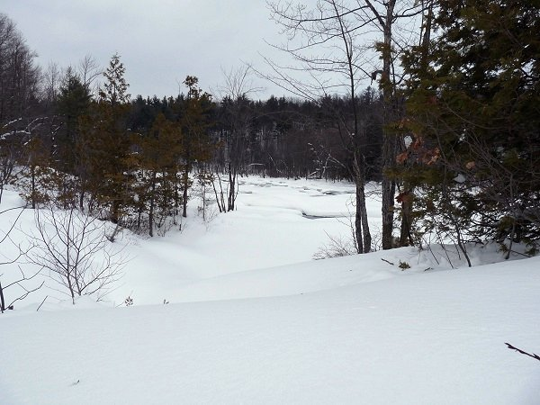 stone valley - raquette river in winter