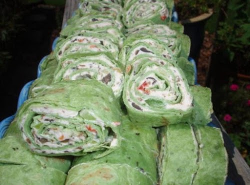 """Veggie Cream Cheese Roll-Ups """"Made these to take to a pot luck..."""