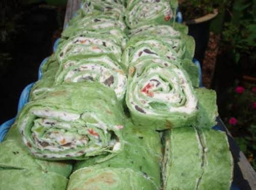 "Veggie Cream Cheese Roll-Ups ""Made these to take to a pot luck..."