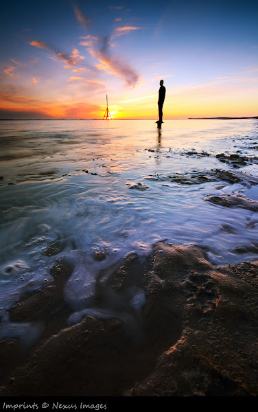 Photo: A colourful little one from Monday Evening at Crosby beach. For those who don't know, it's one of the Anthony Gormley statues (1/90). I can't say it smelt too good but the cloud sure made recompense.