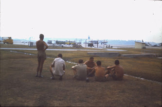 Photo: 74 Sqn Ground Crew take a rest at RAAF Darwin, (Jun 1969)