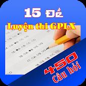 450 gồm 15 đề thi GPLX ô tô