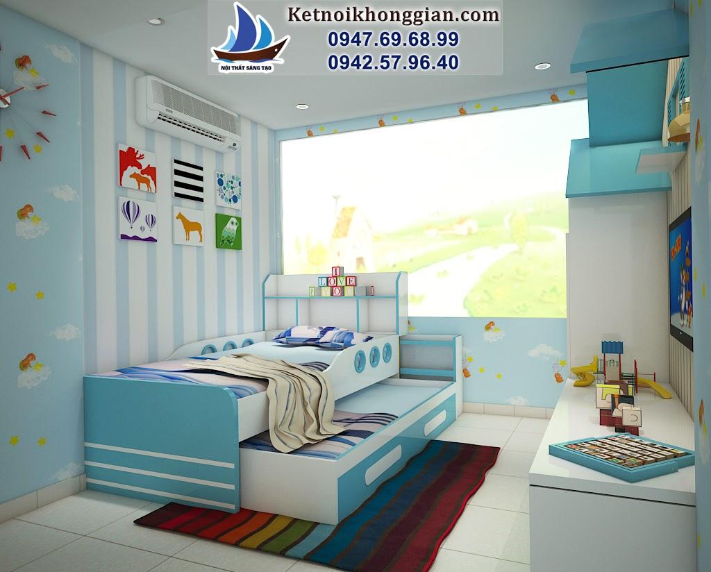 thiết kế phòng ngủ bé trai diện tích nhỏ