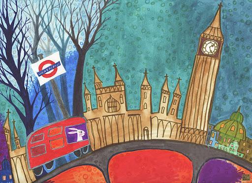 London. Painting