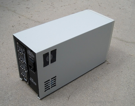 Gecko G540 Motor Controller Enclosure made from UPS, back
