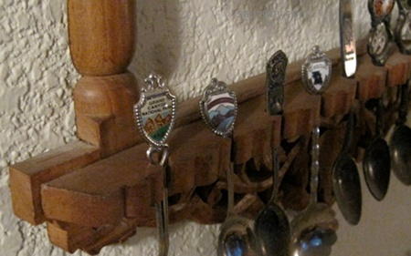 close-up of the spoon rack