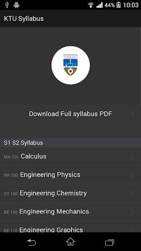 KTU Latest Syllabus Free