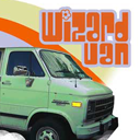 Wizard Van for graphics and tee's designed by ptermclean design co.