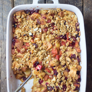Apple Cranberry Bread Pudding.