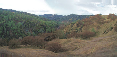 Photo: Cache Creek Wildlife Area, Redbud Trail. Panorama of 2 photos.