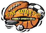 Logo for Fat Willy's Family Sports Grill - Crismon