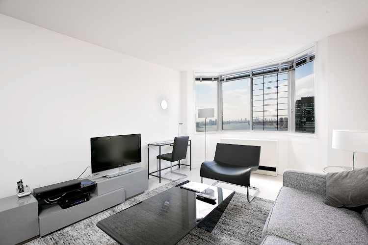 Living area at Midtown East apartment
