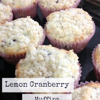 Lemon Cranberry Muffins With Streusel Topping