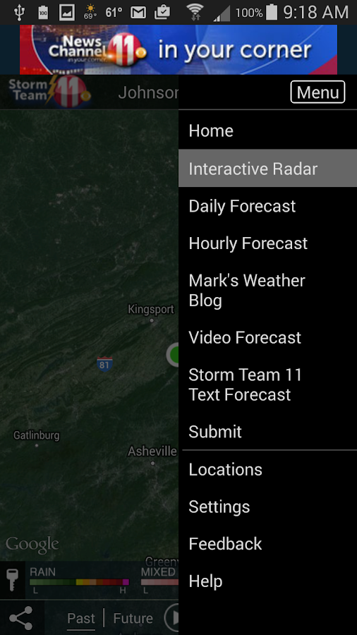 WJHL Radar- screenshot