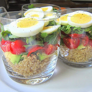 Layered Egg & Quinoa Verrines.