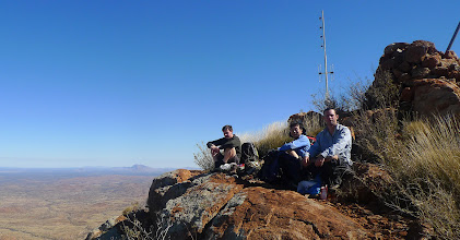 Photo: Me, Paul and Ricky at the summit of Mt Zeil