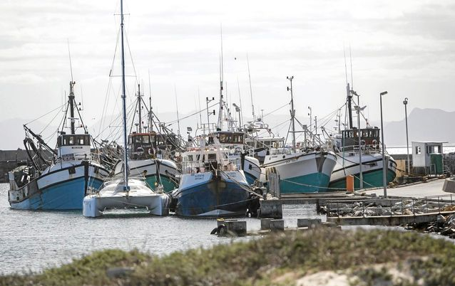 MAKING SPACE: Fishing boats in Gansbaai harbour. Small-scale fishers have historically been crowded out and marginalised by the process used to allocate fishing rights. Picture: SUNDAY TIMES