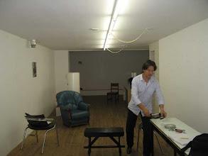 Photo: voorbereiding voor het inrichten van de expositie