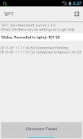 Screenshot of SSH persistent tunnels