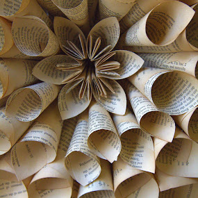 Paper flower by Trippie Visser - Artistic Objects Other Objects ( craft, paper, pages, handmade, flower )