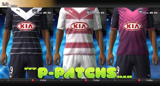 Bordeaux 11-12 Kits para PES 2011 PES 2011 download P-Patchs