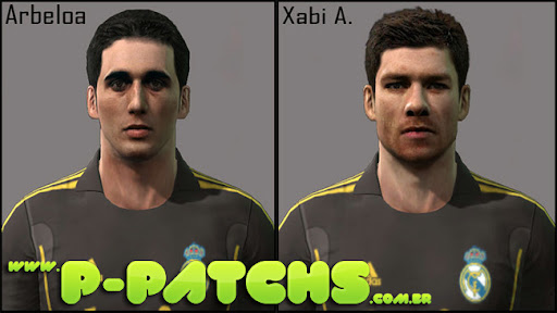 Arbeloa e Xabi Alonso Faces para PES 2011 PES 2011 download P-Patchs