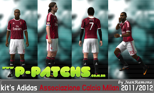 AC Milan 11-12 Home Kit para PES 2011 PES 2011 download P-Patchs
