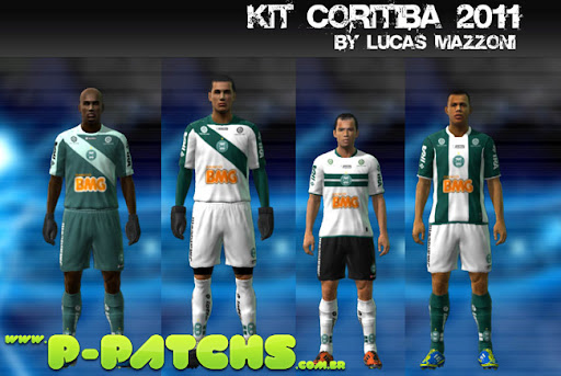 Coritiba 11-12 Kitset para PES 2011 PES 2011 download P-Patchs
