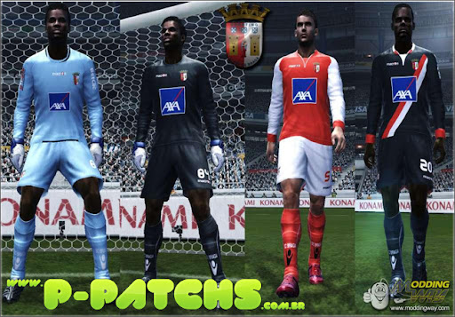 SC Braga 11-12 Kitset para PES 2011 PES 2011 download P-Patchs