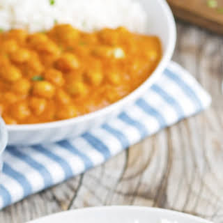 Easy Indian Butter Chickpeas.