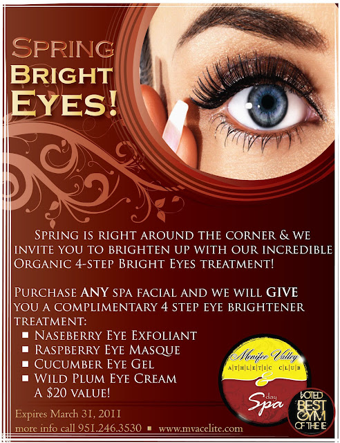 Free Bright Eyes Treatment at Menifee Valley Day Spa!