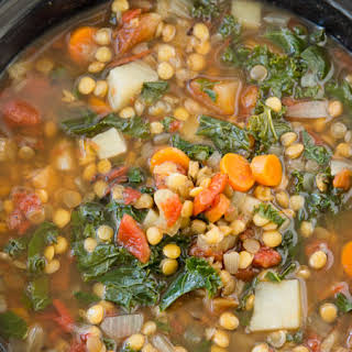 Crock Pot Vegetable Lentil Soup.