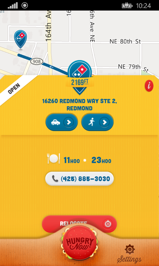 Hungry Now - Fast Food Locator- screenshot