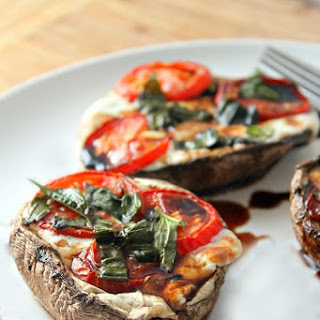 Caprese Stuffed Portobello Mushrooms.